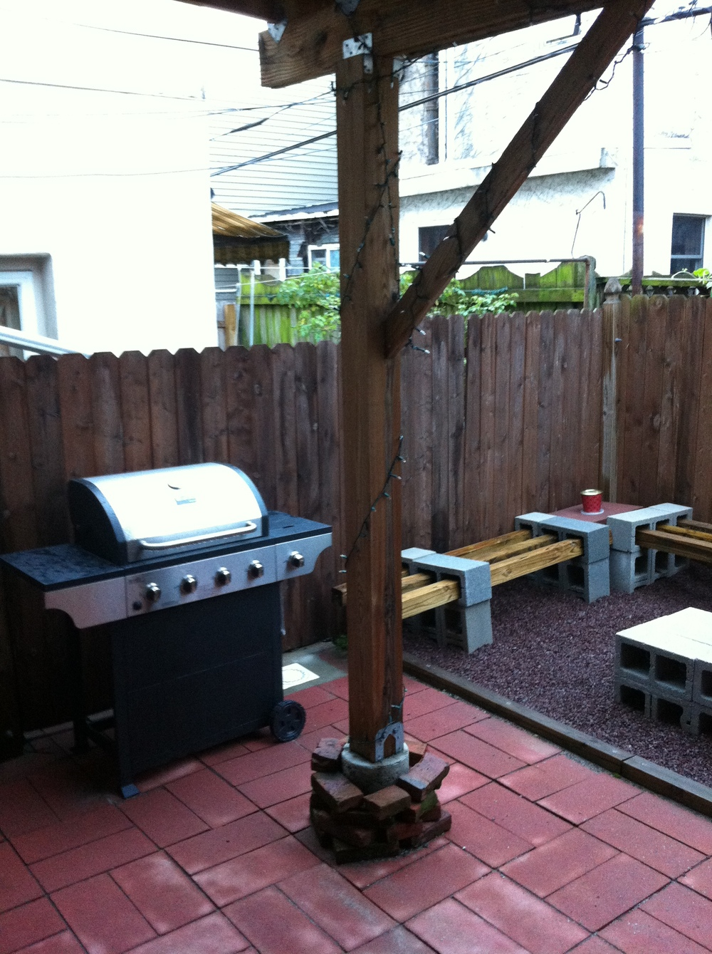 Easy access to the grill for patio parties!
