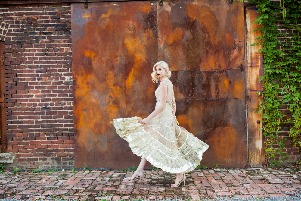 atlanta goat farm dress indian wedding editorial shoot