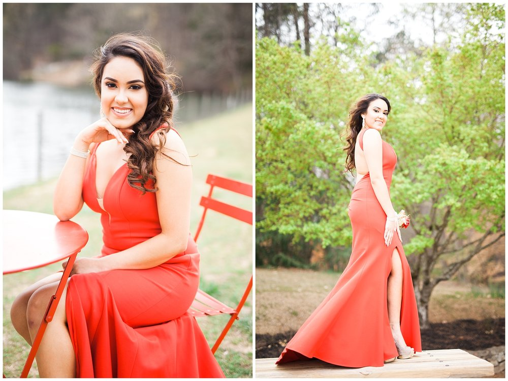 epic prom shoot atlanta red dress