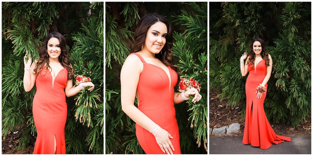 prom shoot senior epic green red