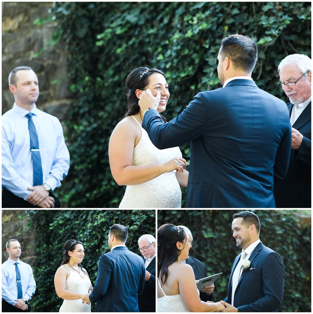 wedding elopement couple emotional intimate piedmont park crying bride groom