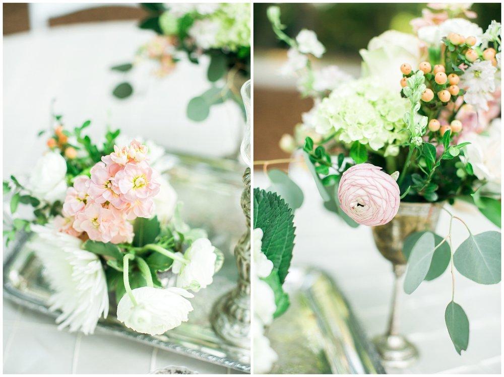 wedding summer peonies silver classic elegant