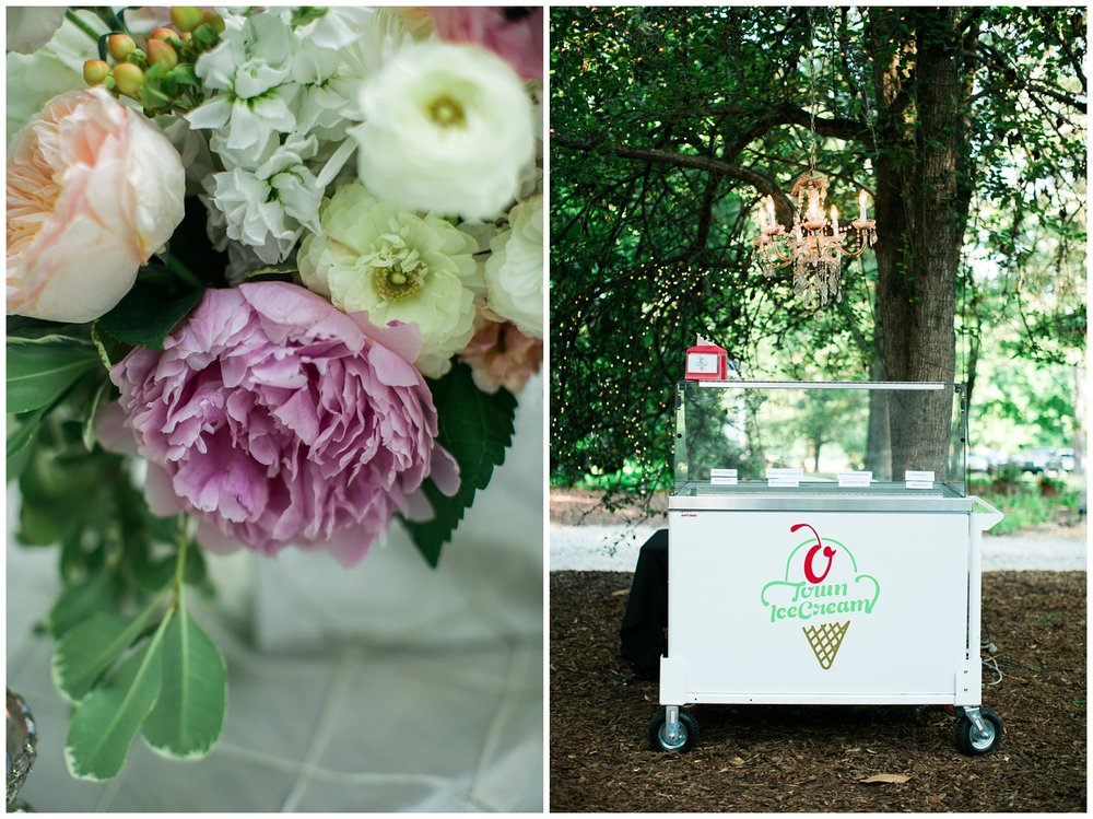custom ice cream wedding southern hot refreshing favors