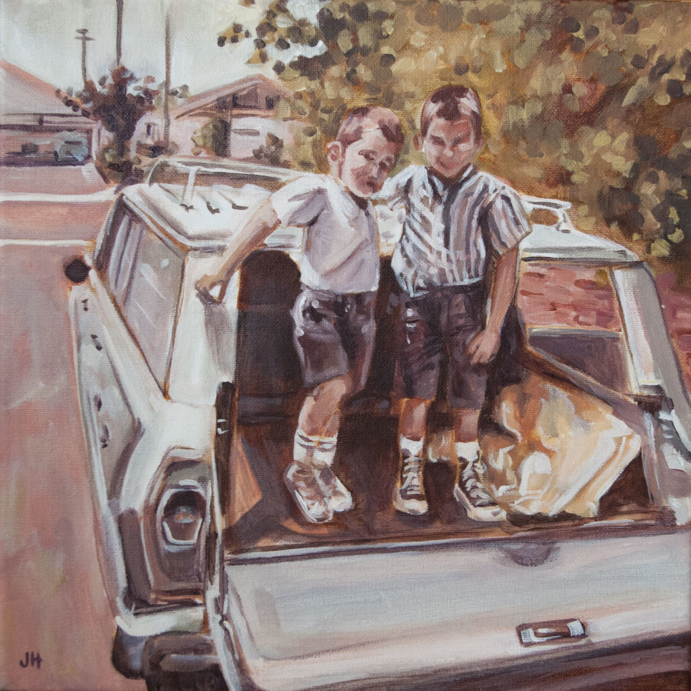 """12"""" x 12"""" Finished painting from a photograph."""