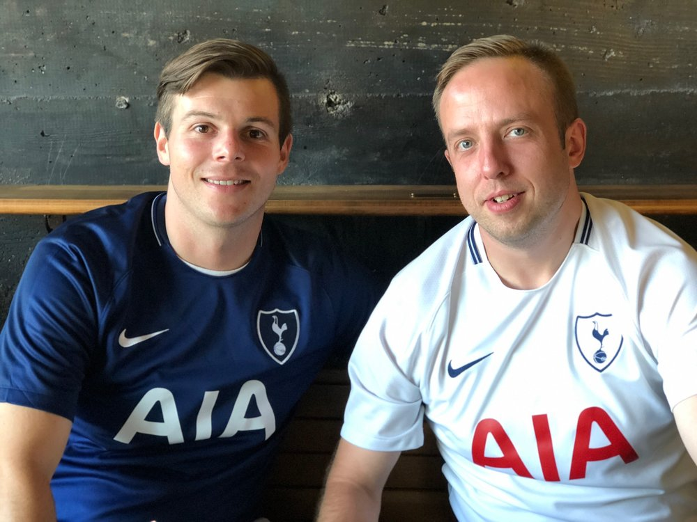 Eric and Conn Tottenham supporters group 2018.jpg
