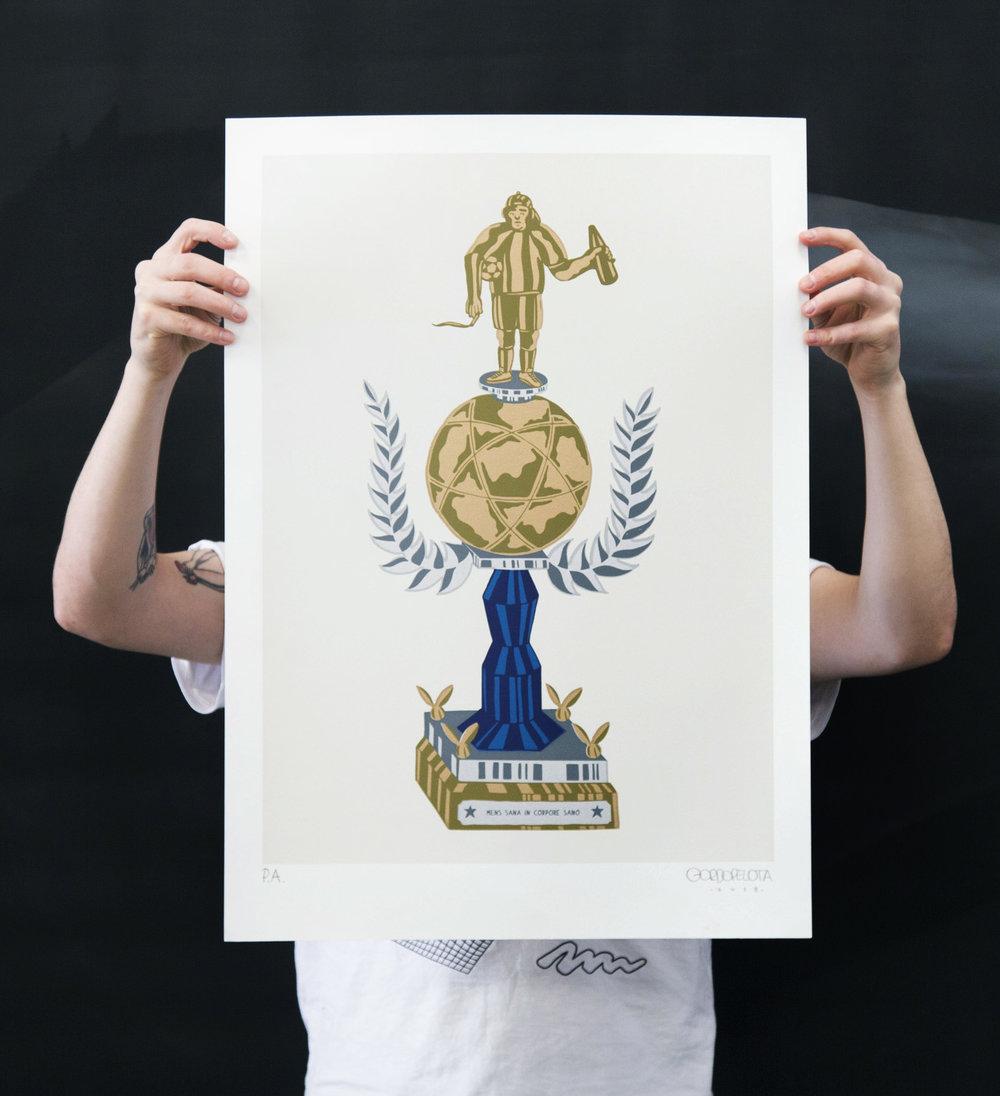 Mens Sana In Corpore Sano Limited Edition Print by Martin Gordopelota