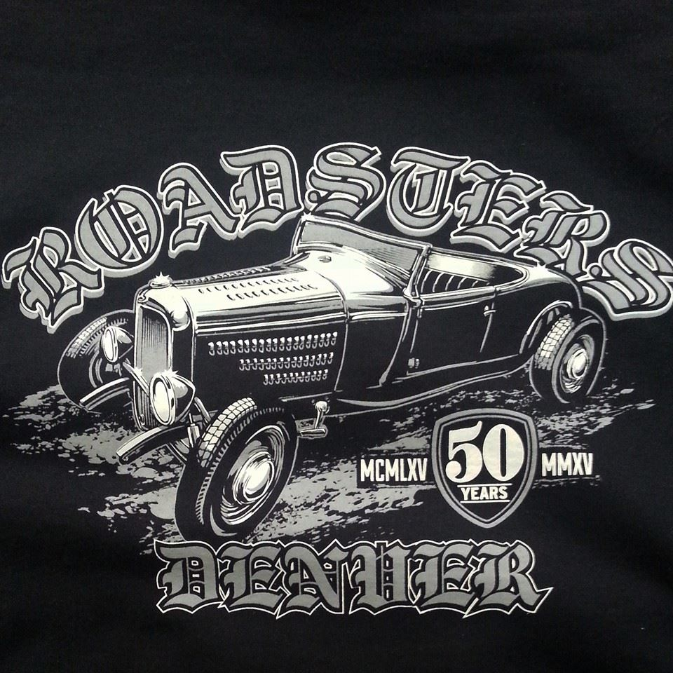 DENVER ROADSTERS 50TH ANNIVERSARY TEES