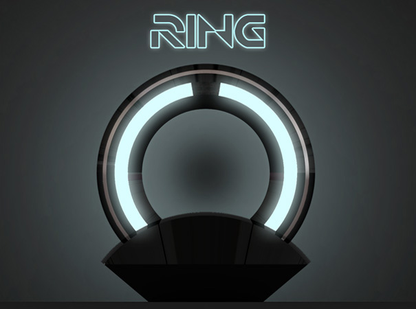 laughingsquid: Ring Lamp - Tron Inspired Lamp by Loris Bottello