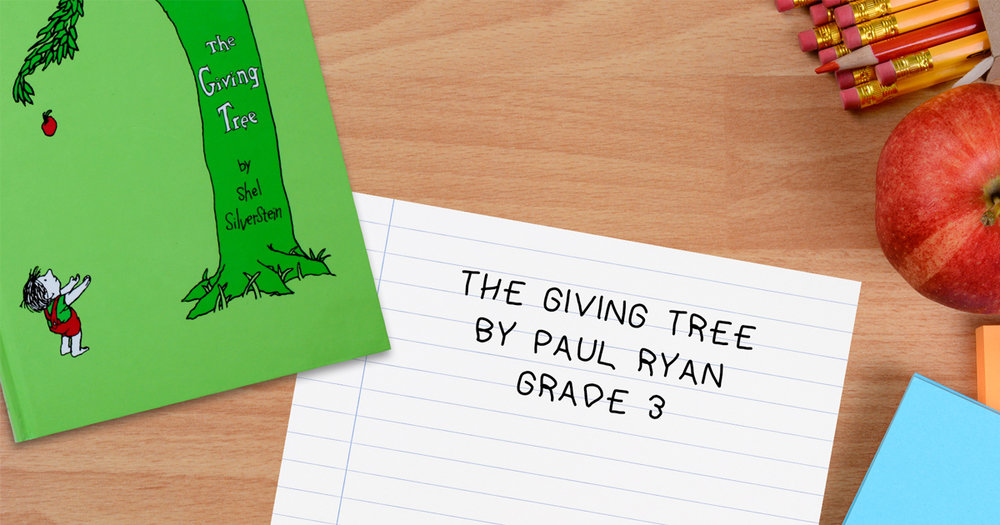 Paul Ryan's Third Grade Book Report on The Giving Tree