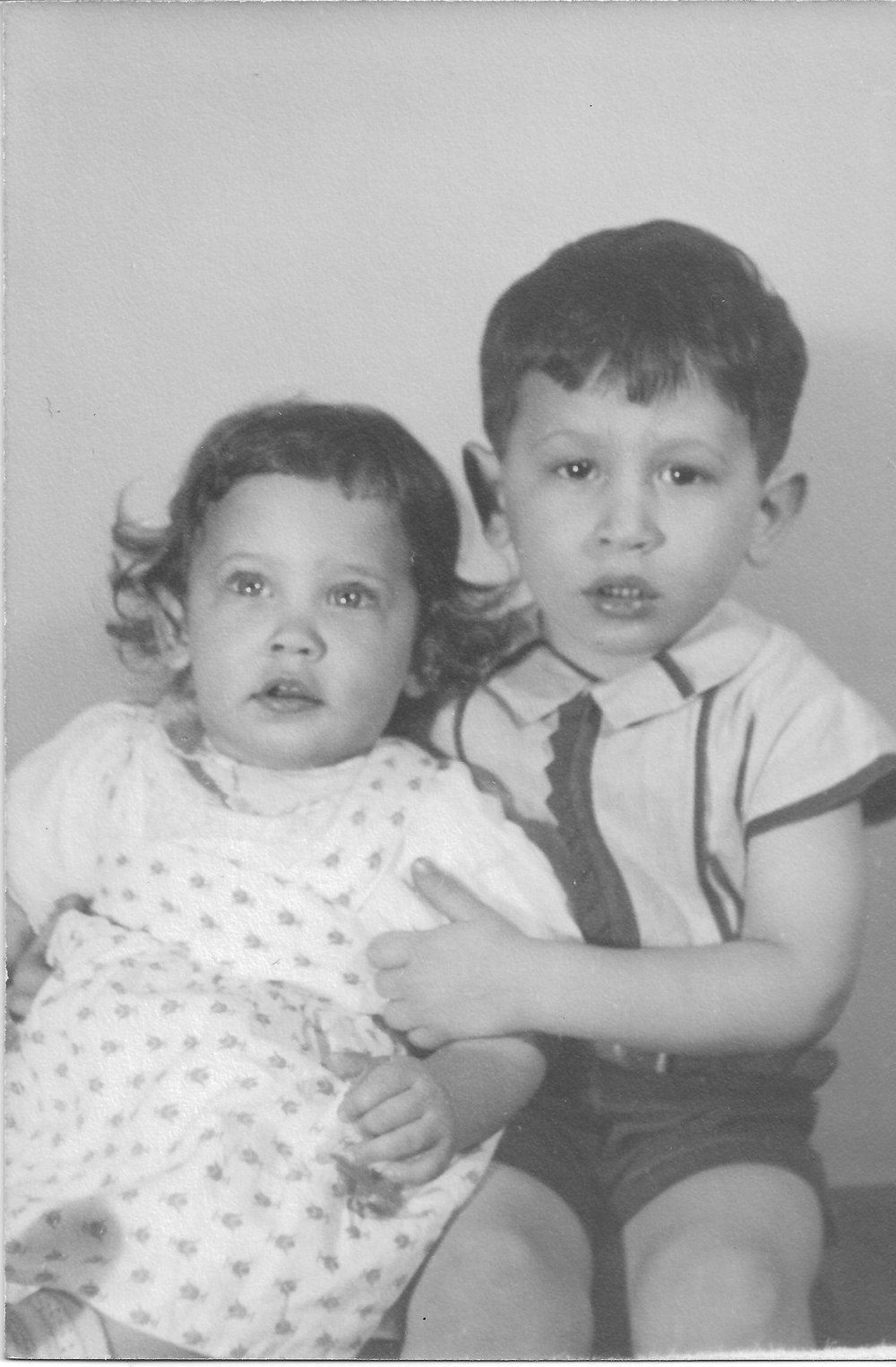 Baby sister Linda, with David ca. 1947