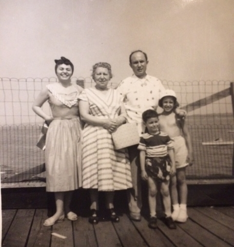 Mom, grandma, Dad, Larry and Linda