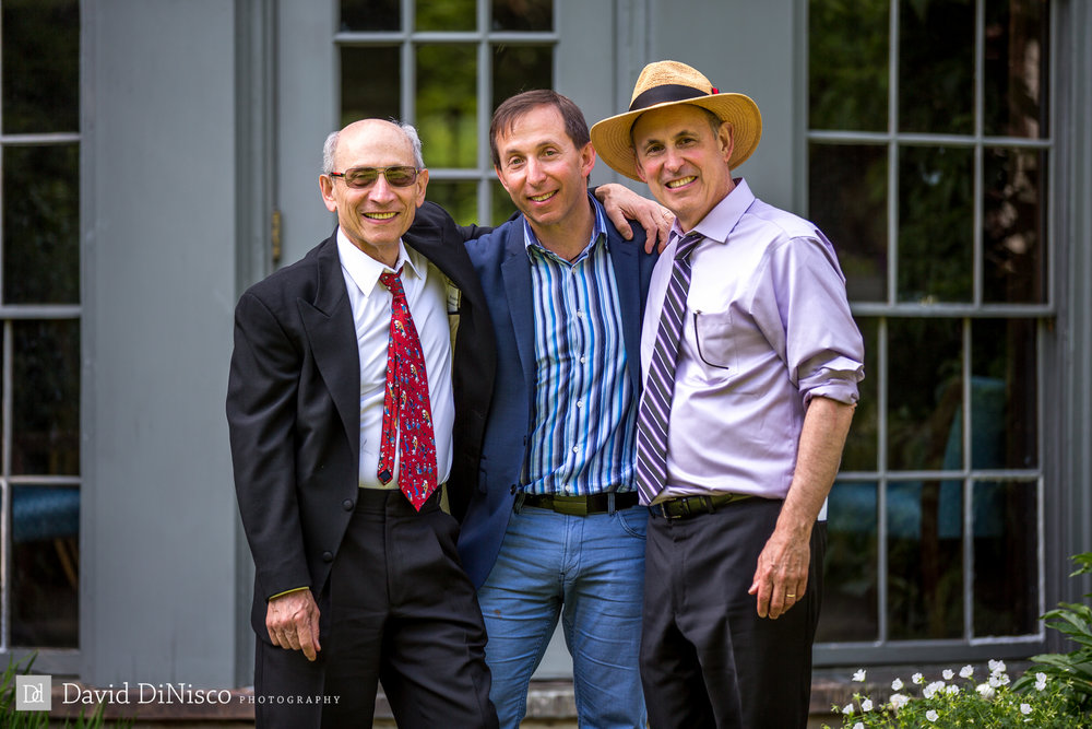 David, Roger, and Lev (Shoshana's dad) at Shoshana's wedding, June 2015