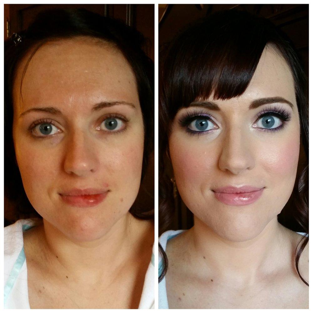 Glamorous Bridal Makeup with Airbrush and Lashes Luminous Beauty Makeup Artist St Paul Hotel.jpg
