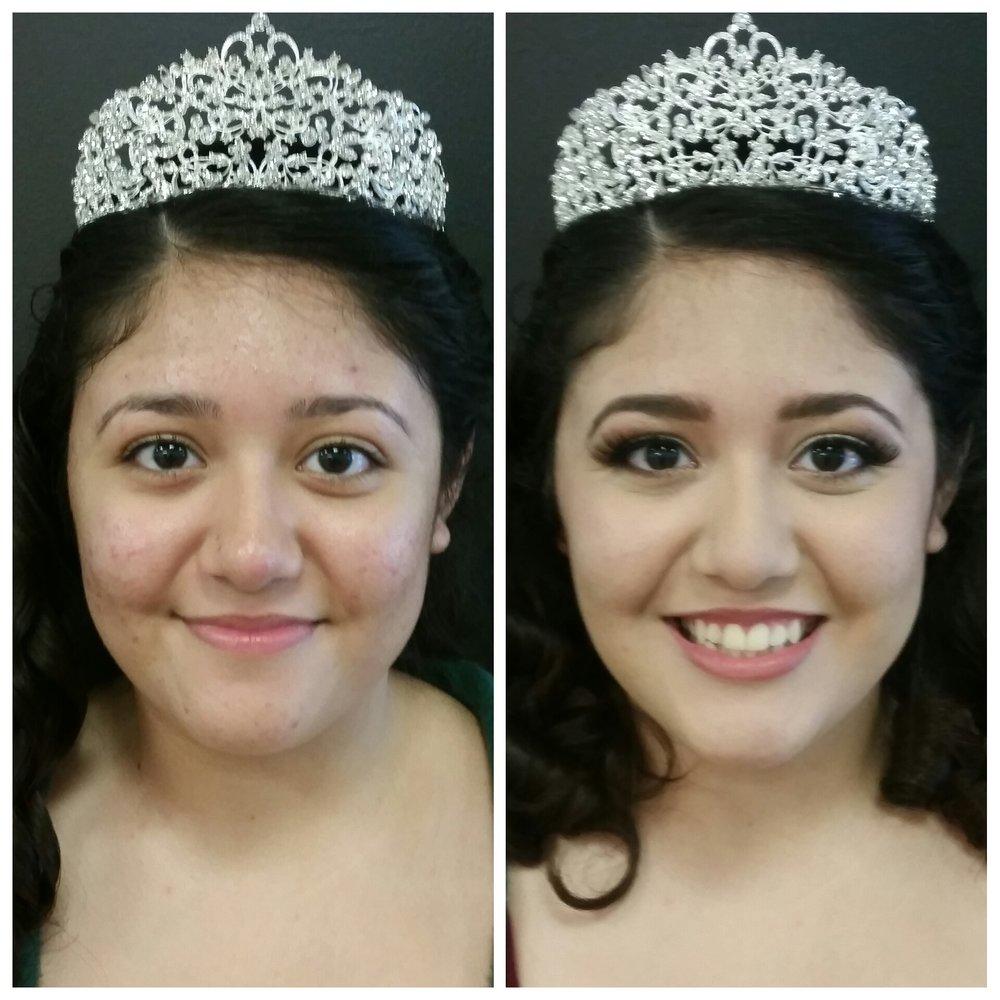 Quinceanera Photo Shoot Makeup with False Lashes by Luminous Beauty Makeup Artist.jpg