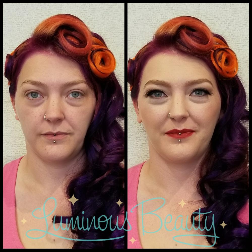 Bridal Pinup Makeup with Mink Lashes. Luminous Be.png
