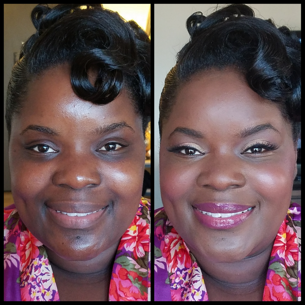 Bold Bridesmaids Makeup with Lashes. Complexion Evening Deep Skin Tone. Golden Eyes and Glowy Cheeks. Luminous Beauty Makeup Artist..png