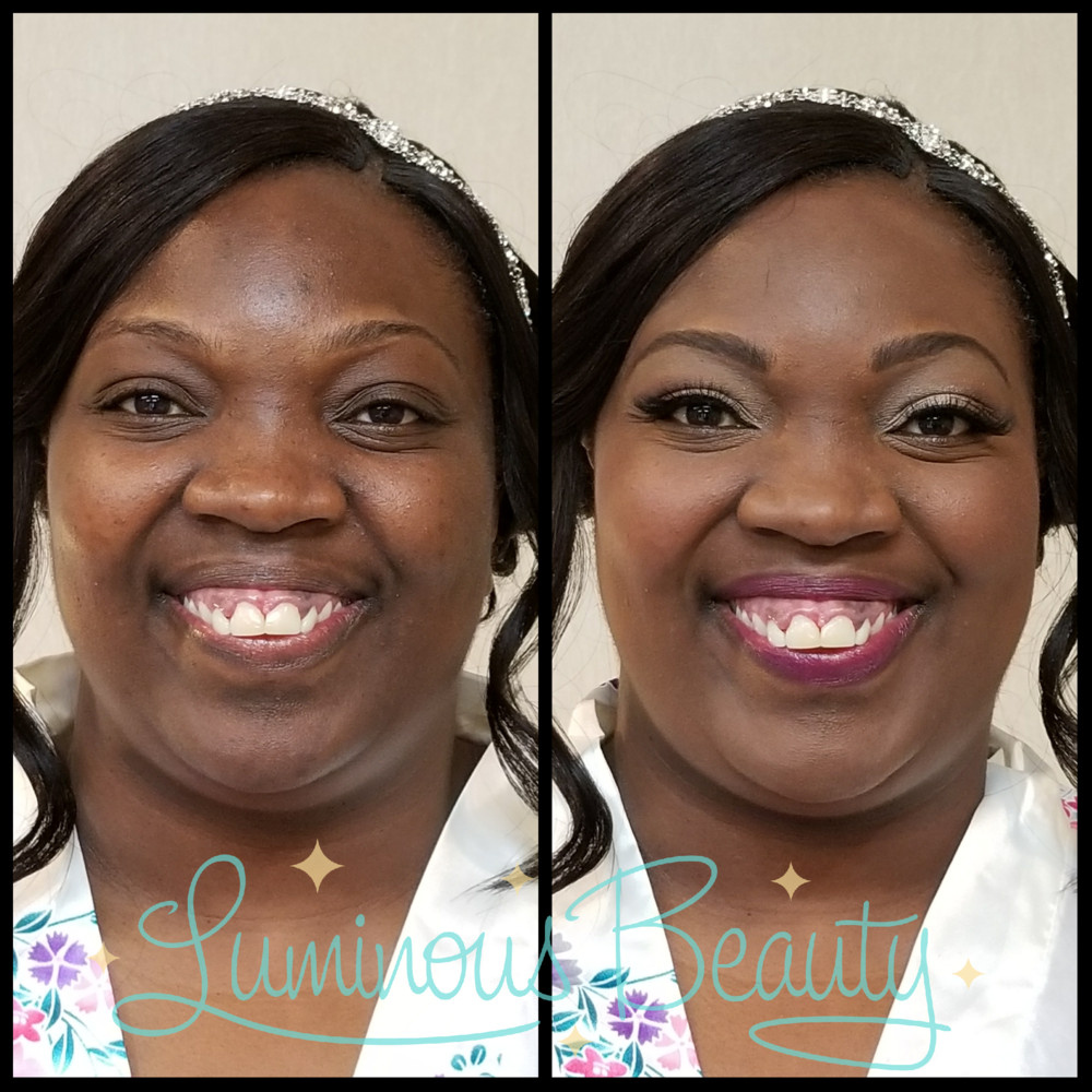 Glowing Bridal Makeup with Bold Burgundy Lip Airbrush and Mink Lashes. Luminous Beauty Makeup Artist..png