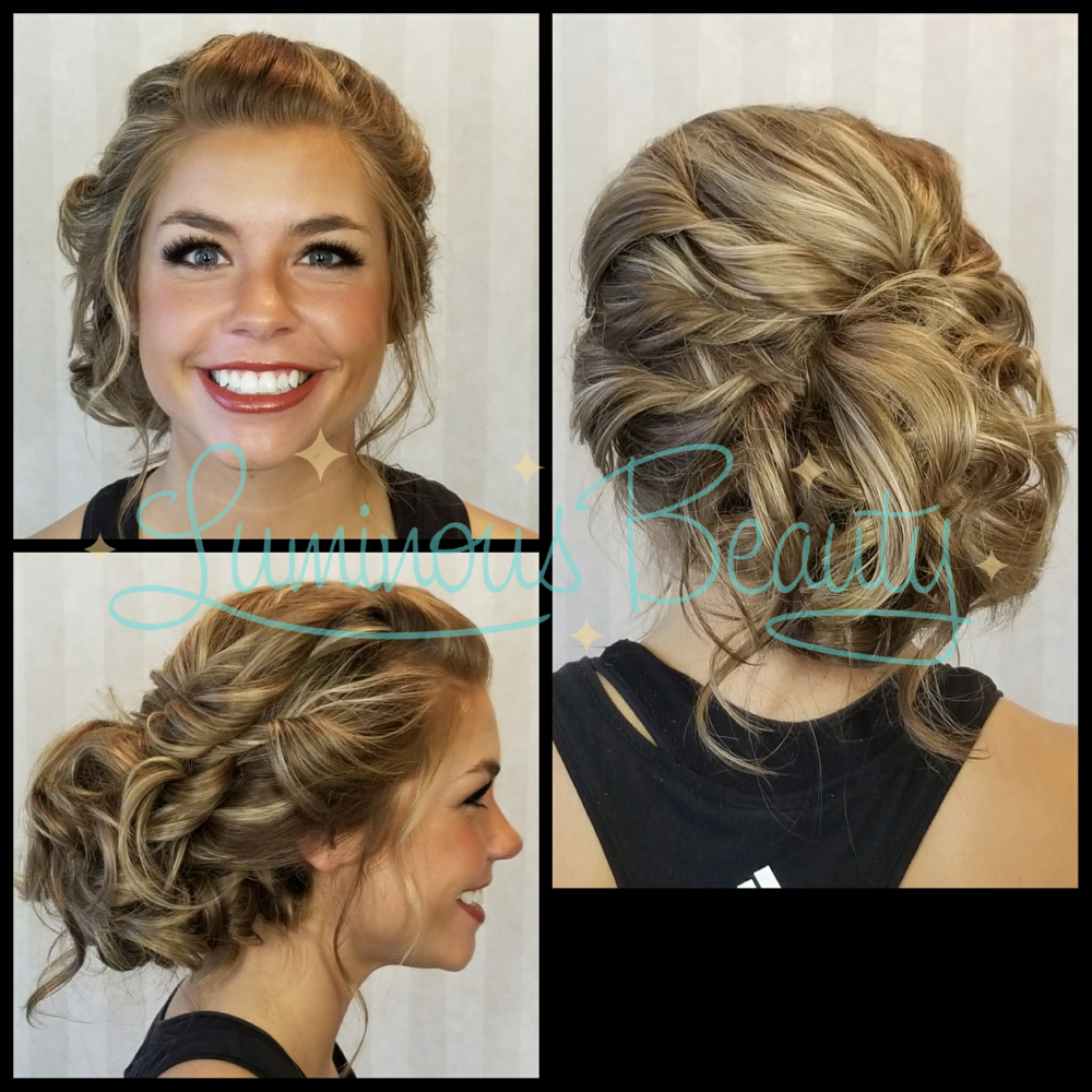 Messy Looping Twisted Curls Updo Bridesmaids Hairstyle. Luminous Beauty Hair..png