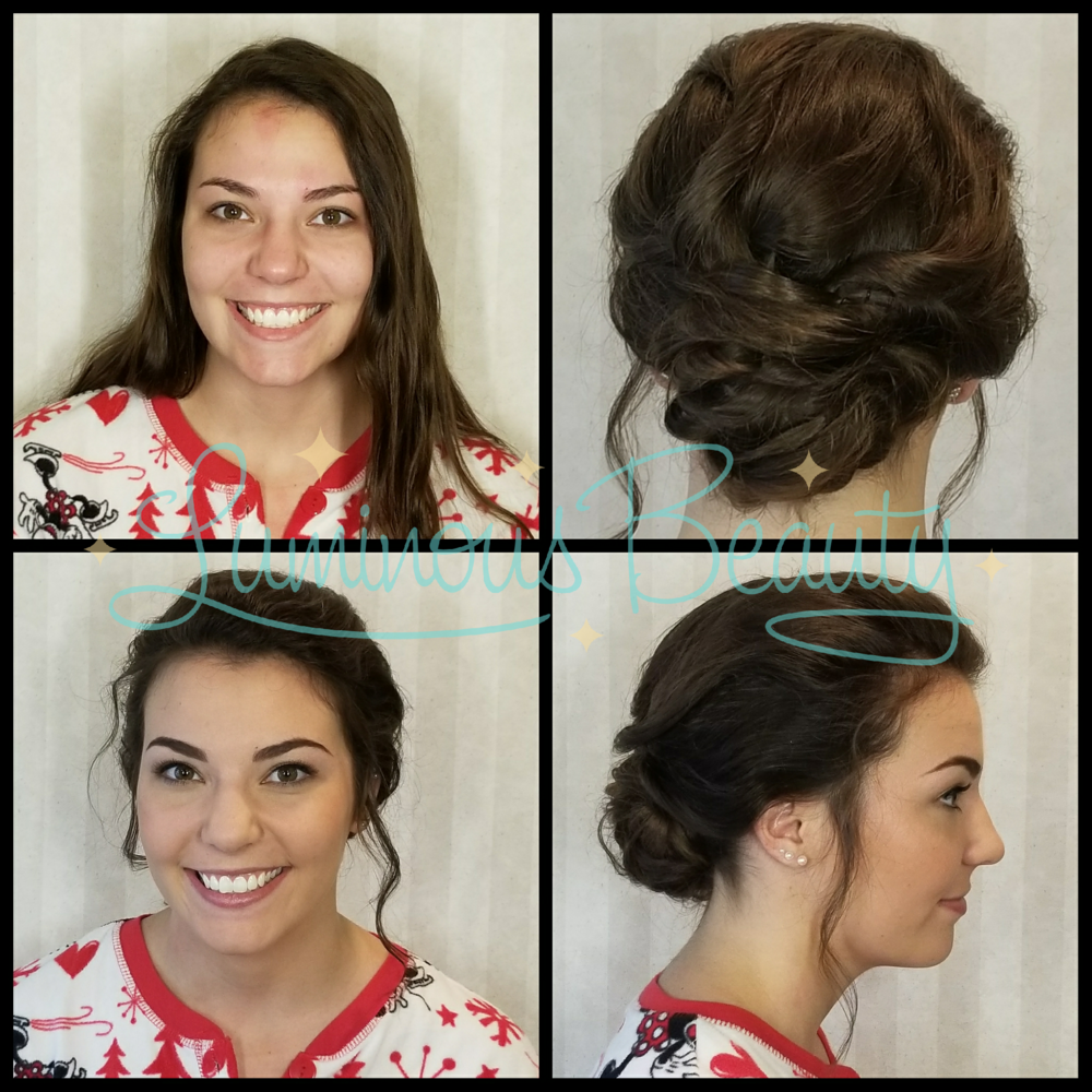 Soft Messy Updo with Bridesmaids Hairstyle. Luminous Beauty Hair & Makeup.png