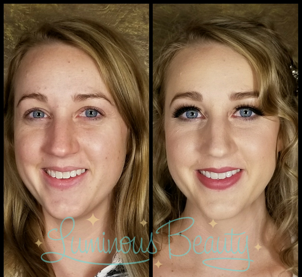 Soft and Picture Perfect Airbrush Makeup. Bridal Makeup with Cruelty-Free Mink False Lashes. Luminous Beauty Makeup Artist. Luminous Beauty Hairstylist..png