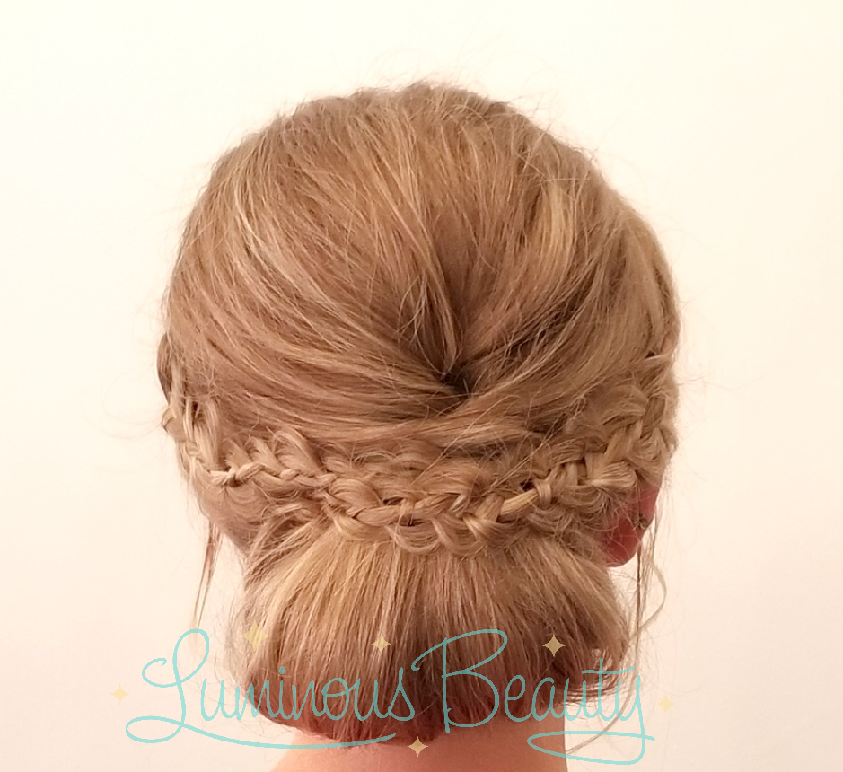 Bridesmaid Hair. Smooth Updo with Braid. Minneapolis Wedding Stylist. MN Luminous Beauty Stylist..png