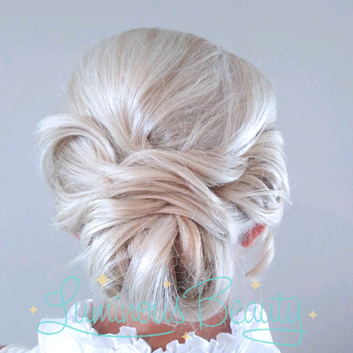 Platinum Bridal Hair. Smooth Loopin Updo. Chic. Best of The Knot Wedding Stylist. MN Wedding Stylist. Luminous Beauty Stylist..png