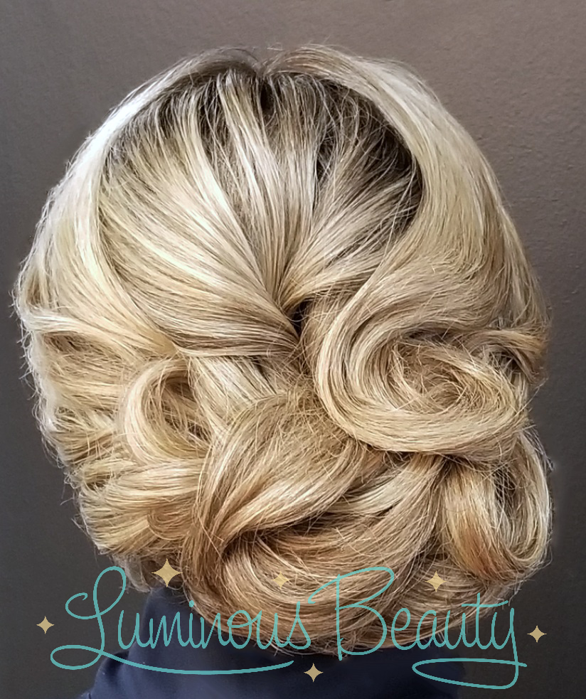 Sophisticated Bridal Updo. Wedding Hair. Luminous Beauty Stylist. Best of The Knot Wedding Stylist..png