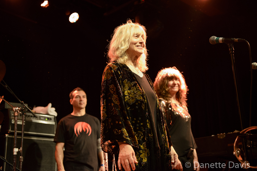 L-R: Philippe Bussonnet, Stella Vander and Isabelle Feuillebois, Magma,  2016 , at The Crocodile
