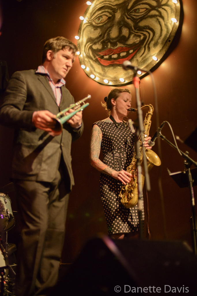 L-R: Bill Jones and Kate Olson, of the Kate Voss & the Big Boss Band,  2016 , at the Royal Room