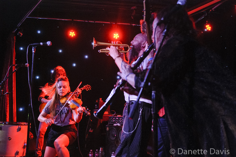 L-R: Val Kiossovski, Paris Hurley, Gino Yevdjevich, and Amy Denio, Kultur Shock,  2016 , at Chop Suey