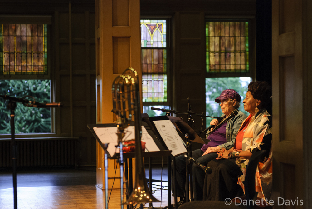 L-R: Pauline Oliveros and Ione,  2016 , at The Chapel