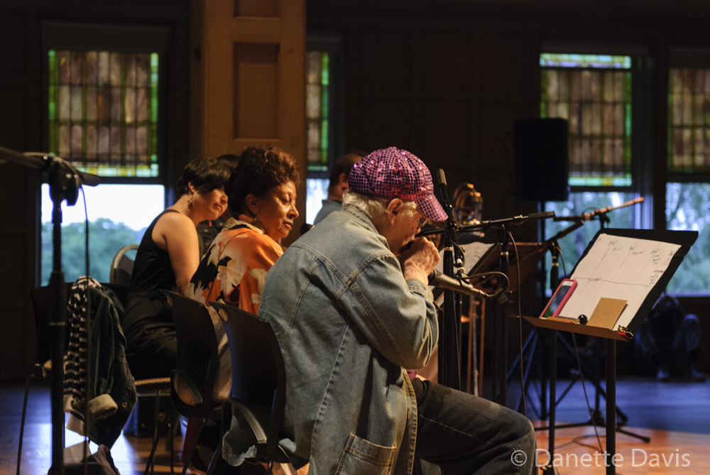 L-R: Margaret Sunghe Paek, Ione and Pauline Oliveros,  2016 , at The Chapel