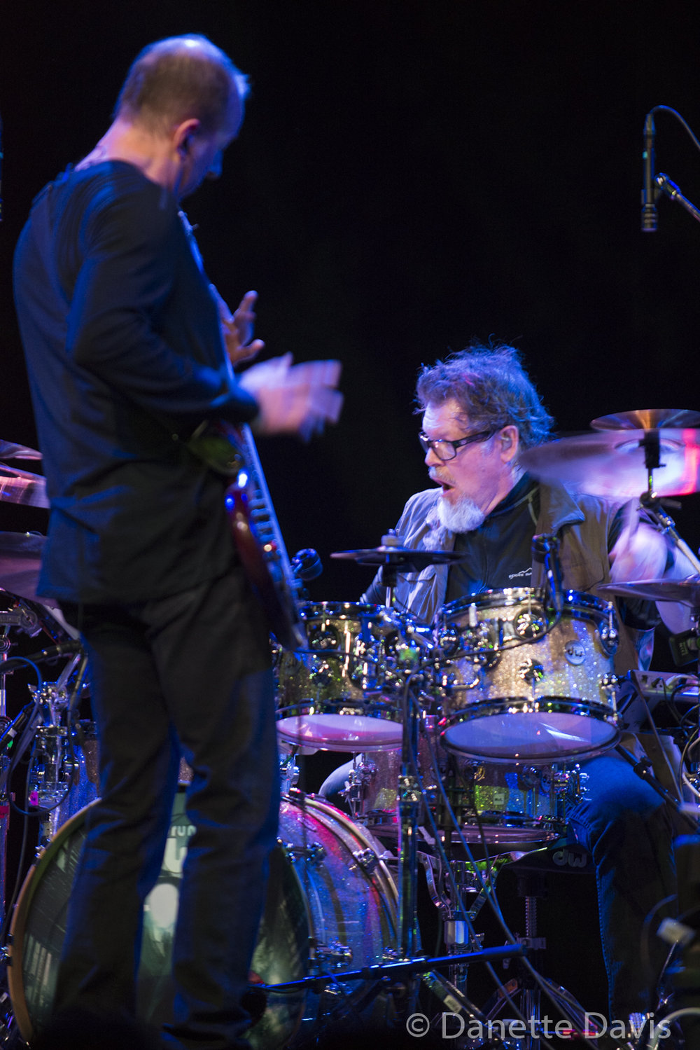 L-R: Trey Gunn and Pat Mastelotto, Stick Men,  2017 , at Triple Door