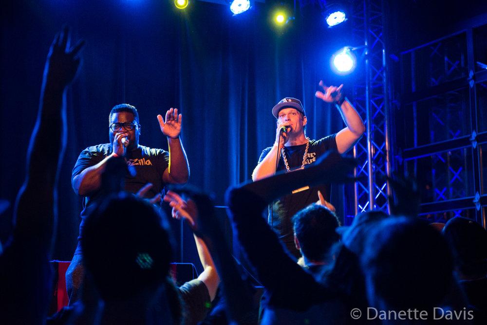 L-R: Mega Ran and MC Lars, Nectar Lounge,  2017