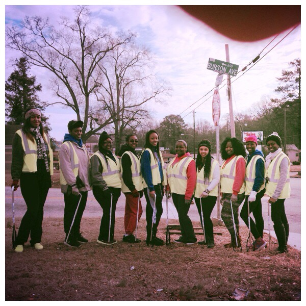 CGR-UWG Members Helping to Clean Up the Community