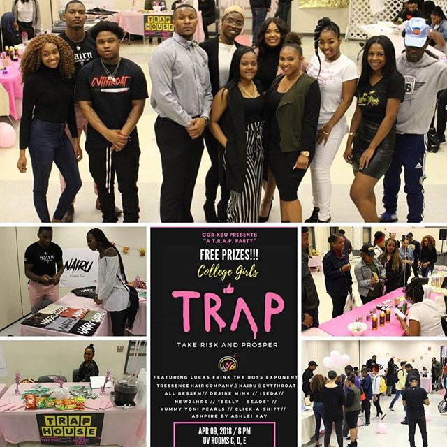 Flashback to our inspiration for the CGR TRAP event! KSU hosted an amazing TRAP event on their campus featuring student vendors! 💕✨