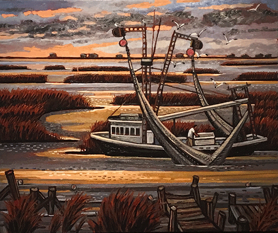 Marsh Shrimper by David Bates