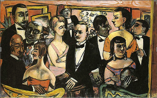 Paris Society by Max Beckmann