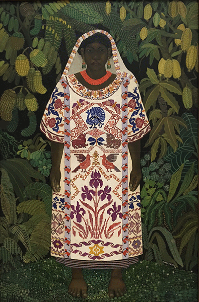Indian Woman from Oaxaco by Ramon Cano Manilla