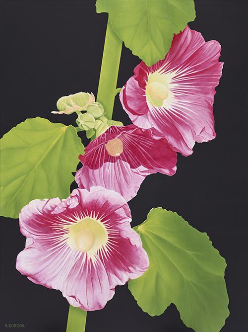 "Dancing Hibiscus,  Acrylic on Canvas, 36"" x 48"""