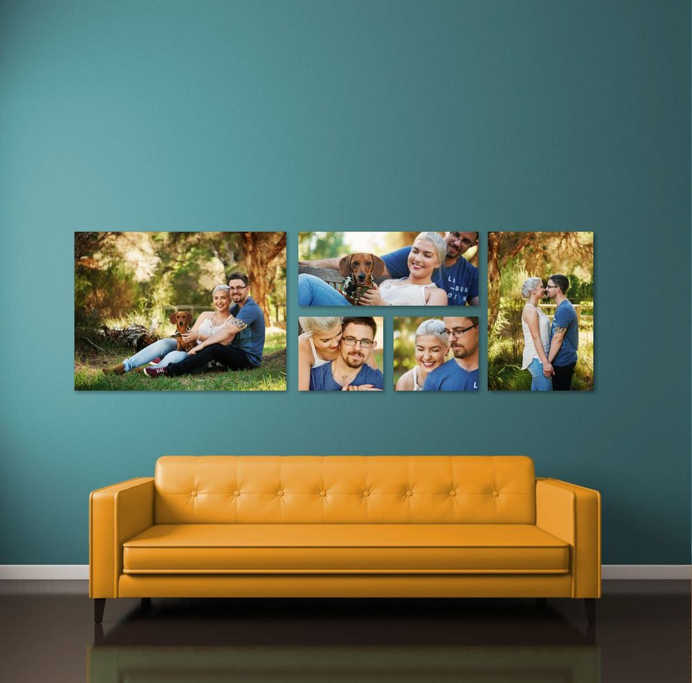 Canvas or Acrylic. The Voss is an amazing way to display your fav photos!