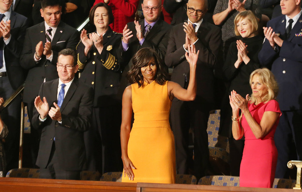 FLOTUS Michelle Obama, looking flawless at the 2016 State of the Union.