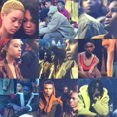 Yup. This is a photo collage of Kanye's models from the 2016 Yeezy Season 3 Adidas collection showing... Percocet, anyone???