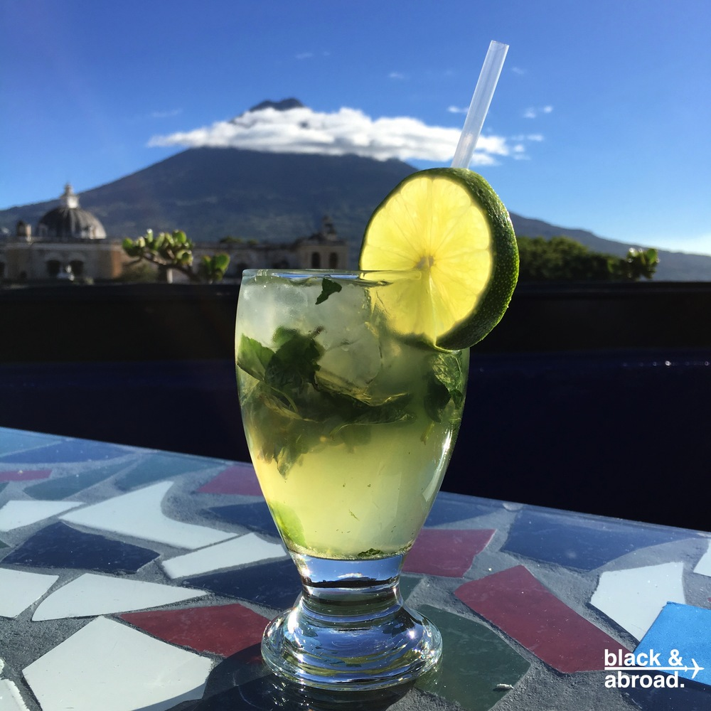 The Cojito: a coconut rum mojito that pairs perfectly with the sun & breezes on the rooftop.