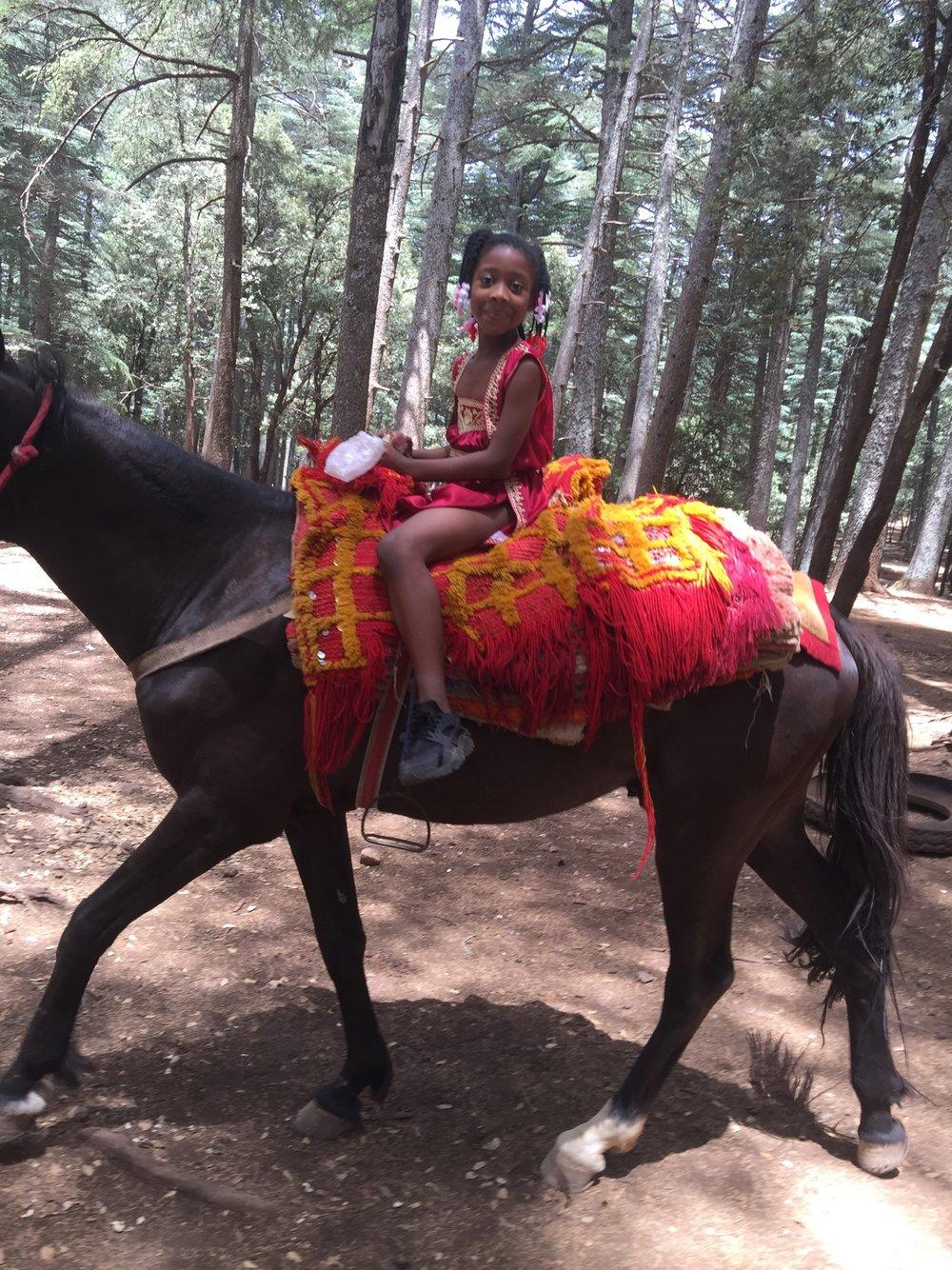 Horseback riding in Morocco!