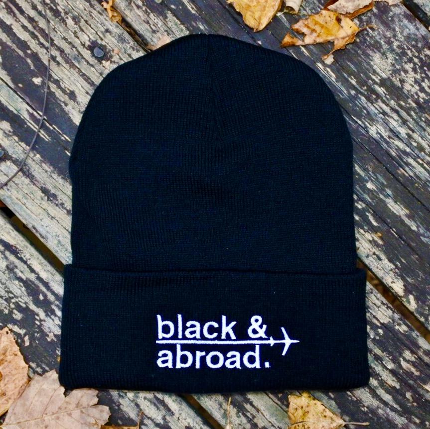 ff42e956113 FullSizeRender 41.jpg. BLACK   ABROAD SIGNATURE BEANIE