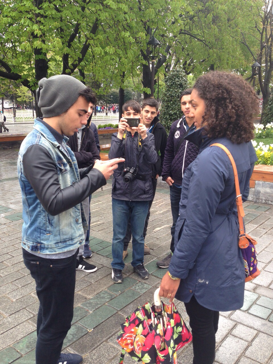 Turkish boys interviewing me thinking I am Rihanna! 2015