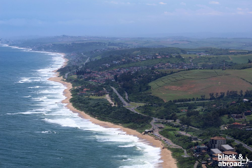The northern portion of Durban's coastline.