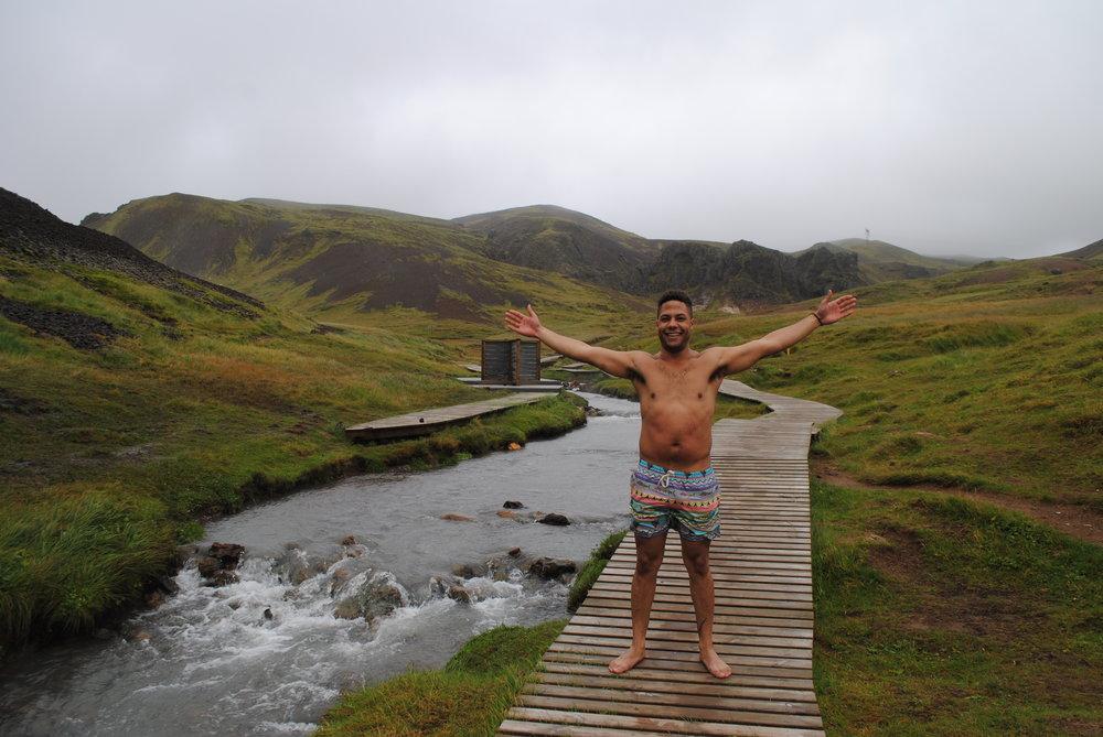 Me being safe in Reykjadalur, Iceland
