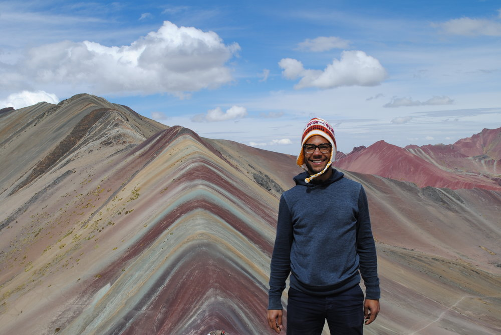 Me being safe at the Rainbow Mountains, Peru